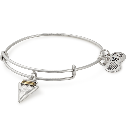 Alex and Ani Rafaelian Silver 'Arrowhead' Charm Bangle - A17EBAHRS