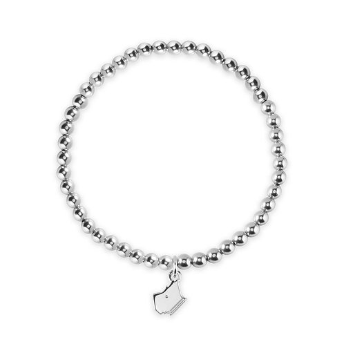 RADLEY Sterling Silver Beaded Scottie Dog Bracelet