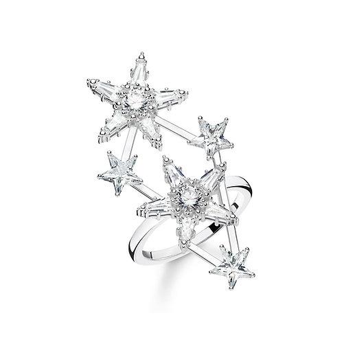 Thomas Sabo Silver Multi Stars Ring - TR2272-051-14-54