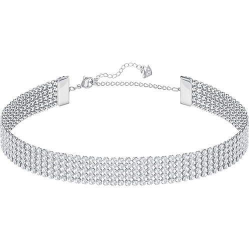 SWAROVSKI FIT Silver Colour Choker Crystal Necklace - 5299886