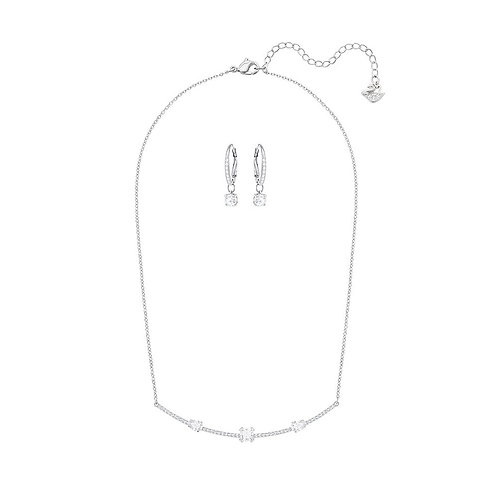 SWAROVSKI Sparkling Gray Necklace and Earring Set  - 5291056