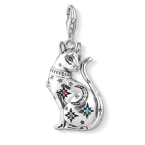 Thomas Sabo Sterling Silver Cat Constellation Charm - 1839-340-7