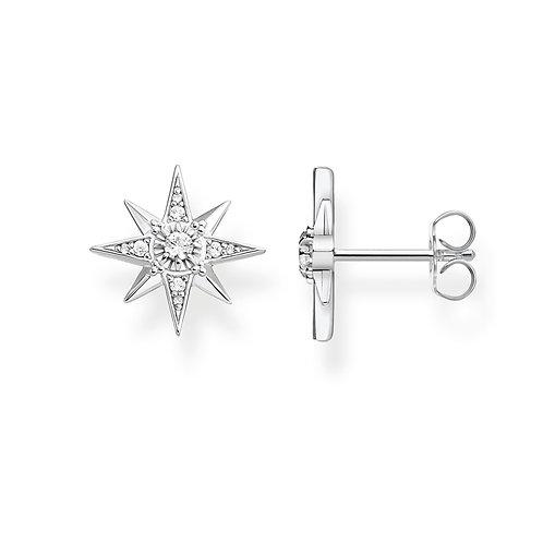Thomas Sabo Sterling Silver Royalty Star Stud Earrings - H2081-051-14