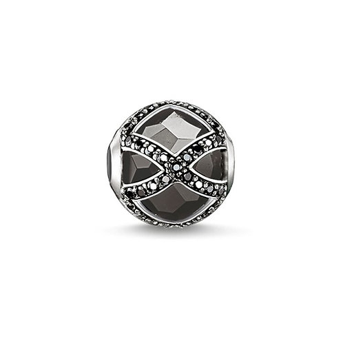 Thomas Sabo Karma Black Faceted Maharani Stone Charm -K0131-641-11