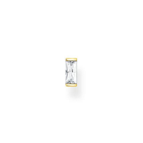 Thomas Sabo Gold Tone CZ Baguette Ear Stud - H2185-414-14