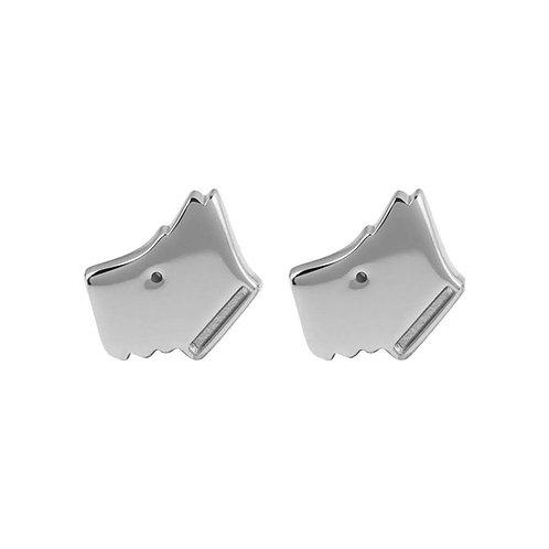 RADLEY Sterling Silver Love Radley Scottie Dog Stud Earrings