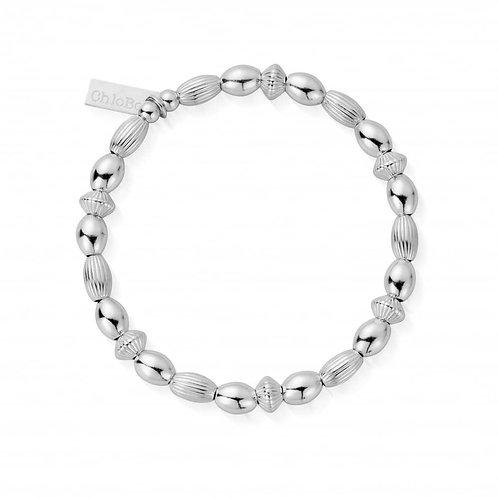ChloBo Silver Mini Oval Rice Bead Bracelet - SBMOD