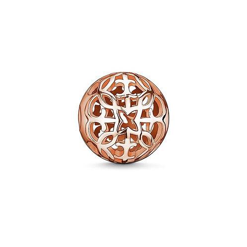 Thomas Sabo Karma Arabesque Rose Gold Tone Bead Charm -K0011-415-12