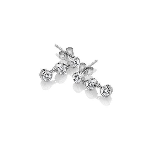 Hot Diamonds Sterling Silver Tender White Topaz Drop Earrings - DE585