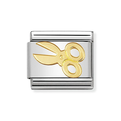 Nomination Gold Scissors Charm Link - 030109/04