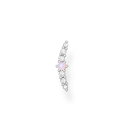 Thomas Sabo Silver and Imitation Pink Opal Ear Stud - H2182-166-7