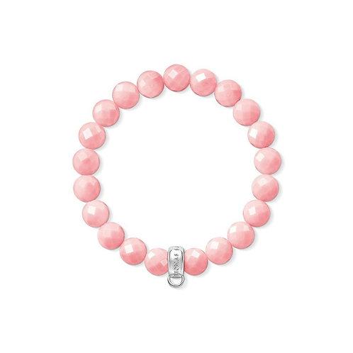 Thomas Sabo Pink Bamboo Bead Charm Bracelet - X0209-590-9