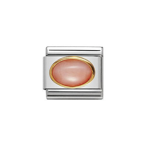 Nomination Gold Oval Pink Coral Charm Link - 030502/10