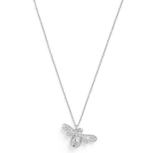Olivia Burton Sparkle Bee Silver Necklace OBJAMN57