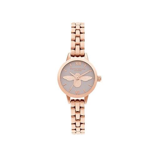 Olivia Burton 3D Bee Blush Dial Rose Gold Watch - OB16MC53