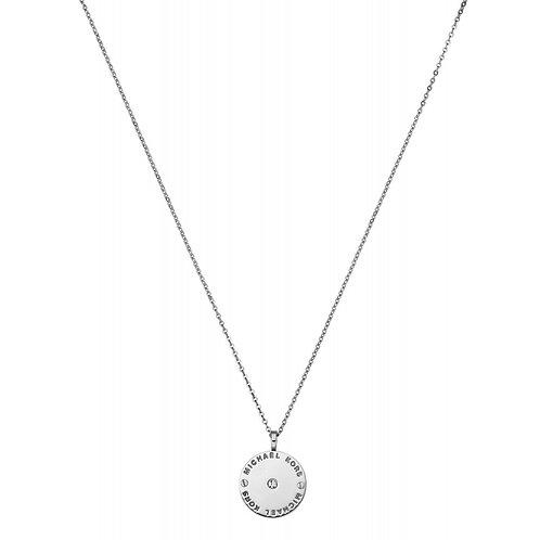 Michael Kors Sterling Silver Logo Disc Necklace - MKJ2655040