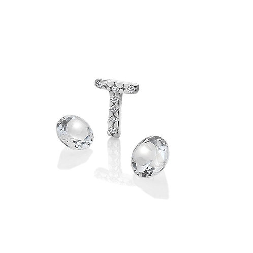 Anais by Hot Diamonds Sterling Silver Letter T Charm - AC088