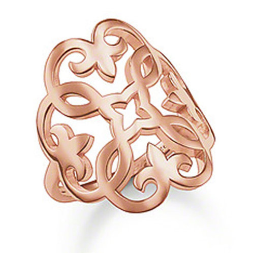 Thomas Sabo Silver Rose Gold Glam and Soul Ring - TR1988-415-12-54