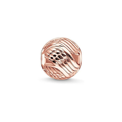 Thomas Sabo Karma Rose Gold Angel Wings Bead Charm -K0225-415-12