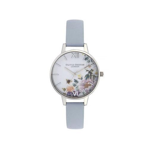 Olivia Burton Enchanted Garden Blue and Silver Watch - OB16EG114