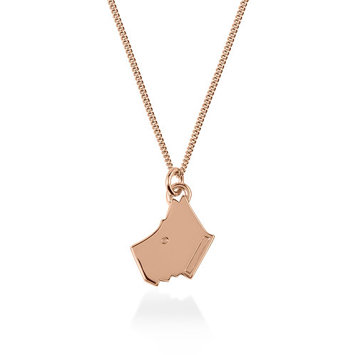 RADLEY Sterling Silver Rose Gold Plated Love Radley Scottie Dog Necklace