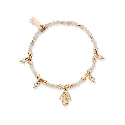 ChloBo Sterling Silver Gold Splendid Star Five Days of Luck Bracelet