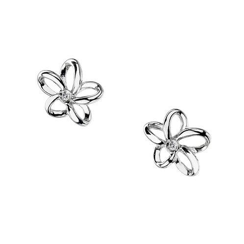Hot Diamonds Sterling Silver Open Petal Flower Earrings