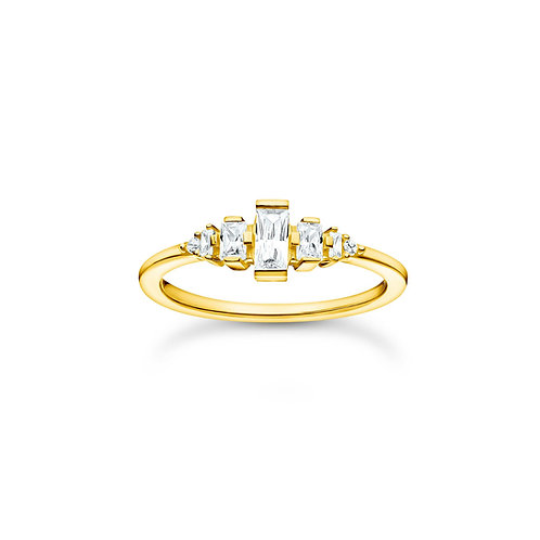 Thomas Sabo Gold CZ Baguette RING - TR2347-414-14