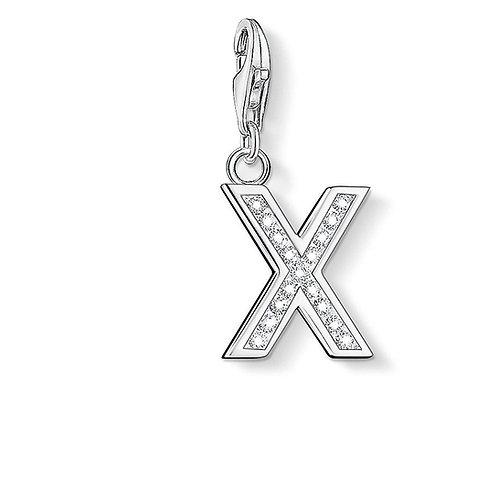 Thomas Sabo Silver CZ Letter X Charm - 0246-051-14