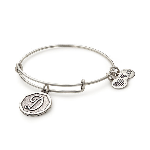 Alex and Ani Rafaelian Silver Initial D Charm Bangle - A13EB14DS
