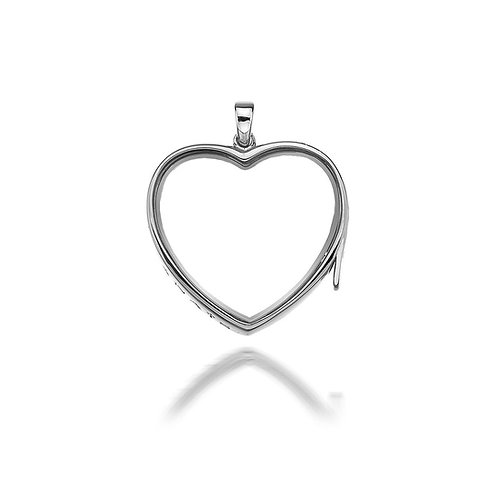 Anais by Hot Diamonds Sterling Silver Large Love Heart Locket - AL009