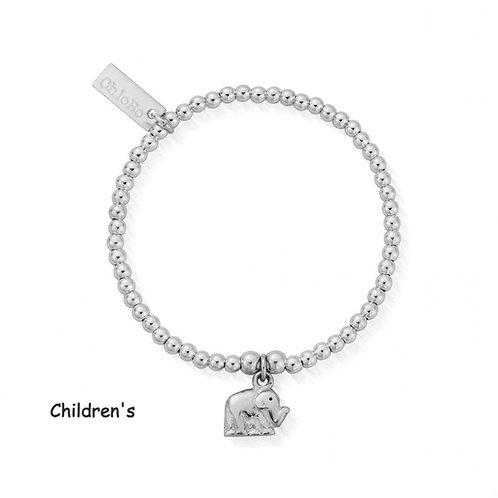 ChloBo Silver Children's Cute Charm Elephant Bracelet - CSBCC405