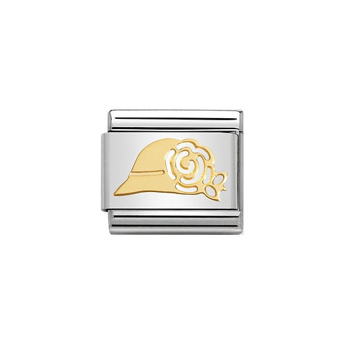 Nomination Gold Madame's Hat Charm Link - 030162/08