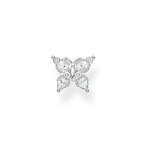Thomas Sabo CZ Silver Butterfly Single Earring - H2195-051-14KE2102-051-14