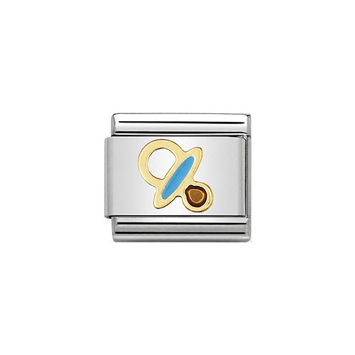 Nomination Gold Classic Blue Dummy Charm Link - 030208/42
