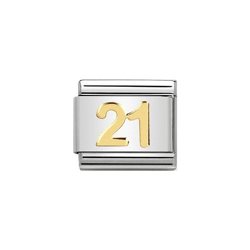 Nomination Gold 21 years Charm Link - 030109/36