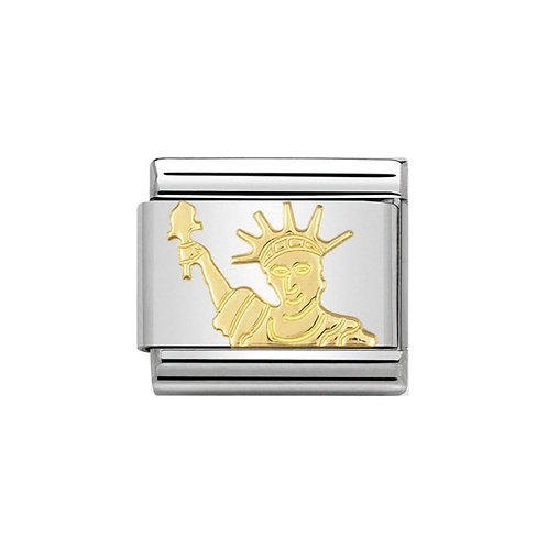 Nomination Gold Statue of Liberty Charm Link - 030128/08