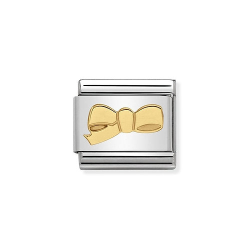 Nomination Gold Bow Charm Link - 030109/37