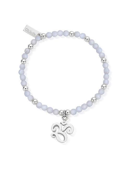 ChloBo Chunky OM Bracelet - Silver and Blue Lace Agate - SBBLASB470