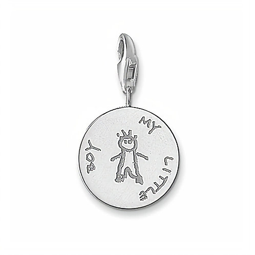 Thomas Sabo Silver My Little Boy Charm - 0131-001-12