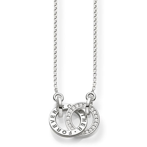 Thomas Sabo Sterling Silver Together Forever Small Necklace - KE1488-051-14