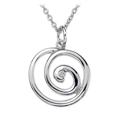 Hot Diamonds Sterling Silver Eternity Spiral Necklace