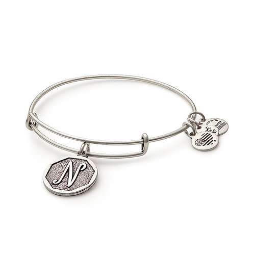 Alex and Ani Rafaelian Silver Initial N Charm Bangle - A13EB14NS