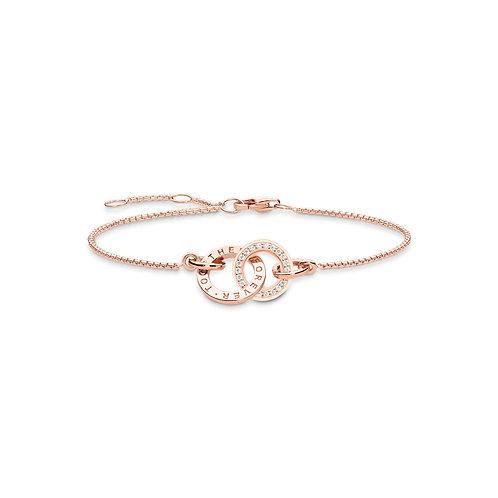 Thomas Sabo Silver rose gold Together Forever Bracelet -A1551-416-40