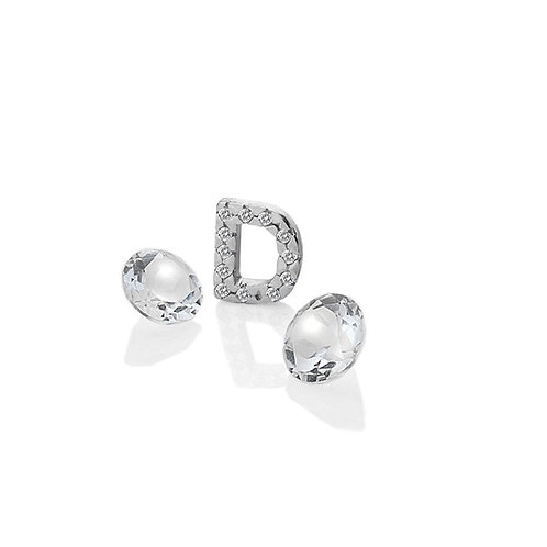 Anais by Hot Diamonds Sterling Silver Letter D Charm - AC072