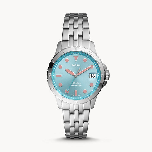 FOSSIL Turquoise Face three hand Ladies Watch - ES4742