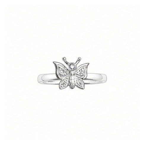 Thomas Sabo Silver and Diamonds Butterfly Ring - SD_TR0005-153-14-54