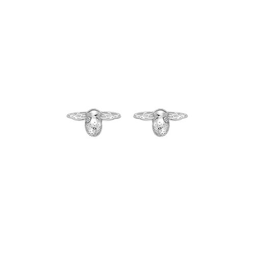 Hot Diamonds Honey Bee Heart Sterling Silver Stud Earrings - DE638
