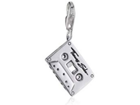 Thomas Sabo Silver Cassette Tape Charm - 0475-001-12