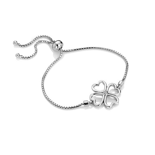 Hot Diamonds Sterling Silver Lucky in Love Bracelet - DL603